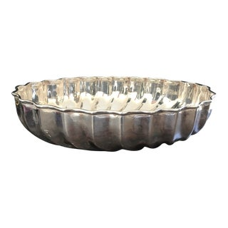 Italian Modern Silverplated Bowl For Sale