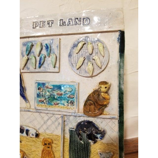 Ceramic Pet Store Theme Wall Plaque For Sale In San Antonio - Image 6 of 12