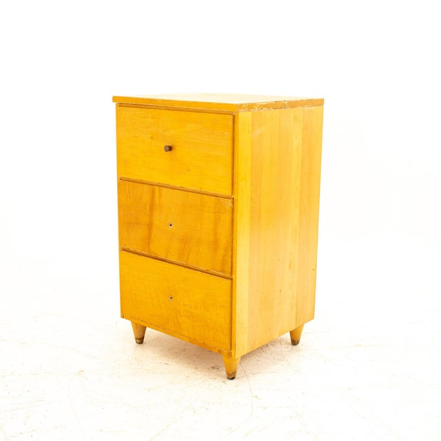 Mid-Century Modern Paul McCobb Style Mid Century 3 Drawer Nightstand For Sale - Image 3 of 9