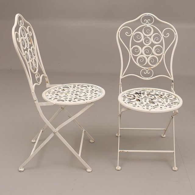 Mid-Century Modern Swedish Garden Steel Furnitures For Sale - Image 3 of 5
