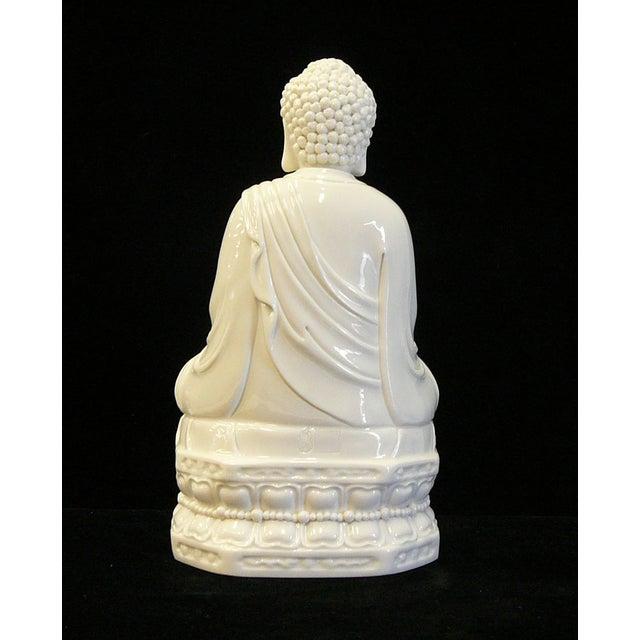 Chinese White Porcelain Buddha on Base Statue - Image 4 of 7