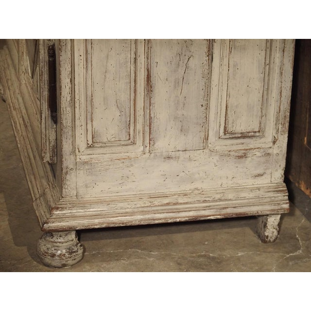White Painted 17th Century French Oak Diamond Point Armoire For Sale - Image 8 of 13