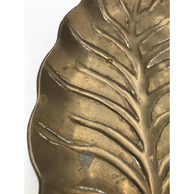 Mid-Century Brass Leaf Tray For Sale - Image 4 of 6