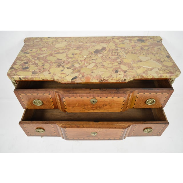Traditional 19th Century French Louis XVI-style Inlaid Chest of Drawers - Image 11 of 11