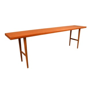 1960s Vintage Kurt Ostervig Danish Mid-Century Modern Teak Bench For Sale