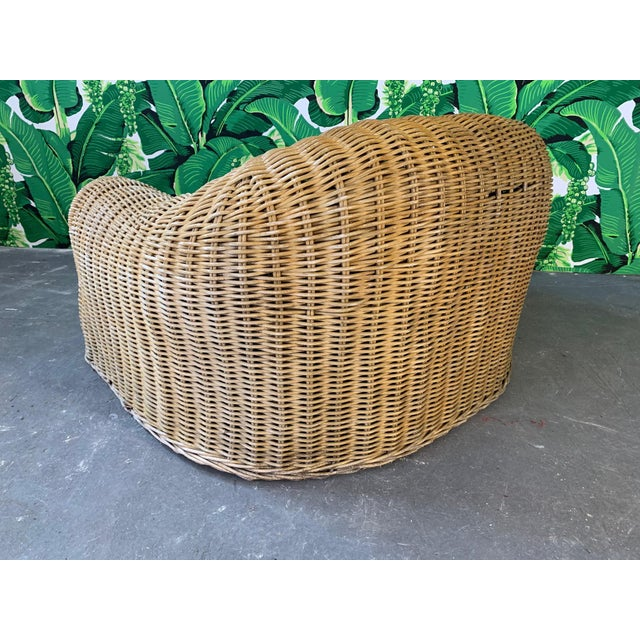Michael Taylor Sculptural Wicker Chair in the Manner of Michael Taylor For Sale - Image 4 of 9