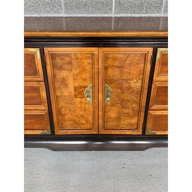 Metal Vintage Oriental Nine Drawer Dresser For Sale - Image 7 of 13