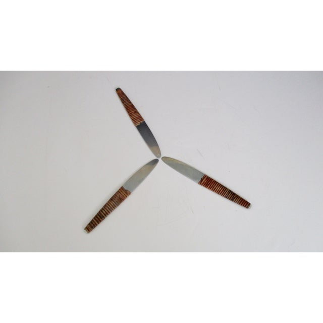 Carl Aubock Austria Steel and Rattan Knife For Sale - Image 9 of 10