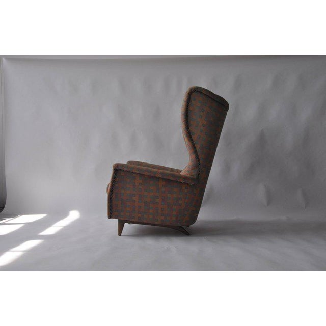 Early 20th Century 1950s Wingback Chair For Sale - Image 5 of 6