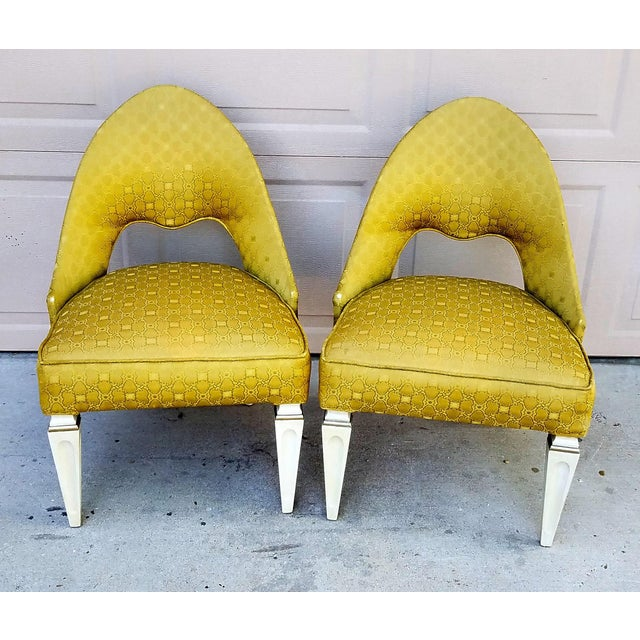Vintage Art Deco Spoon Back Chairs - a Pair - Image 6 of 6