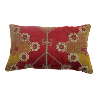 Vintage Boho Chic Floor Rug Pillow For Sale
