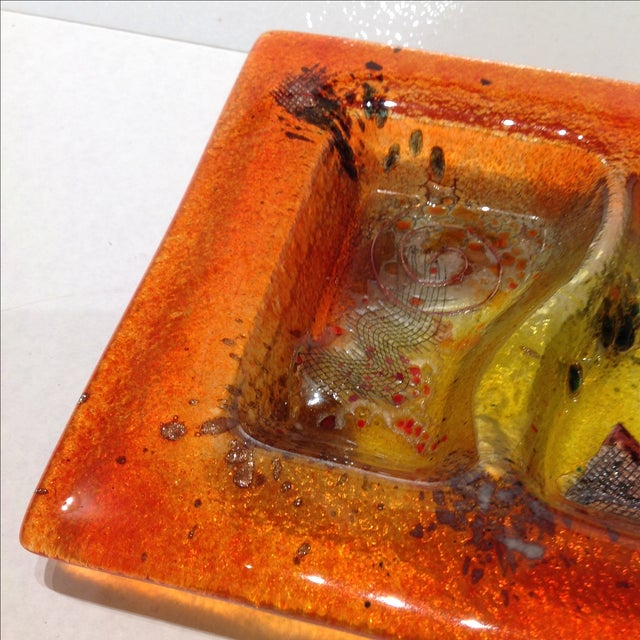 Fused Glass Art Dish - Image 7 of 10