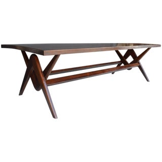 Teak Desk and Dining Table in the Style of Pierre Jeanneret For Sale