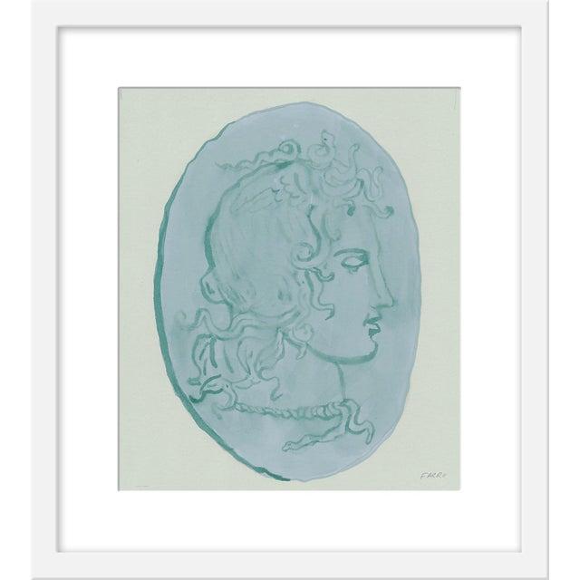 "Small ""Medusa Blue Coin"" Print by Michelle Farro, 17"" X 19"" For Sale"