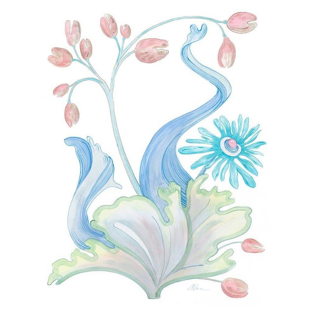 This set of modern coastal art pieces is a series of 9 seaweed fantasy designs. Together they make a statement in your...