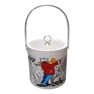 1984 Vintage Ljungberg Collection Leo Meiersdorff Jazz Musicians Motif Ice Bucket For Sale