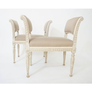 Swedish Gustavian Neoclassical Benches, Pair, Circa 1790 Preview