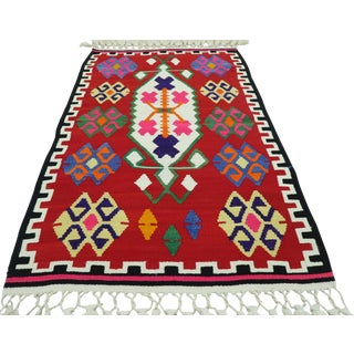 "Turkish Handmade Kilim Rug-2'10'x4'7"" For Sale"