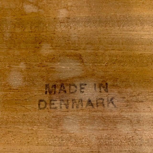 1960s Danish Modern Arne Hovmand-Olsen Teak Coffee Table With Tile Inlay For Sale - Image 11 of 13
