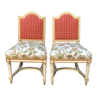 Antique Louis XVI Maison Jansen Side Chairs - a Pair For Sale