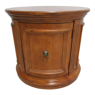 Ethan Allen Legacy Neoclassical French Drum End Table For Sale