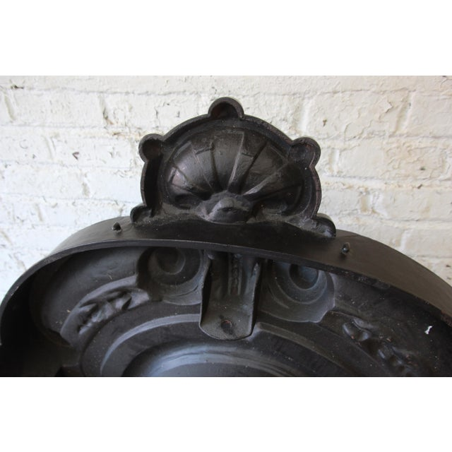 19th Century Antique French Cast Iron Dormer For Sale - Image 11 of 12