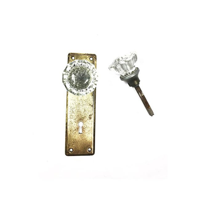 American Antique Victorian Faceted Crystal Door Knob For Sale - Image 3 of 3