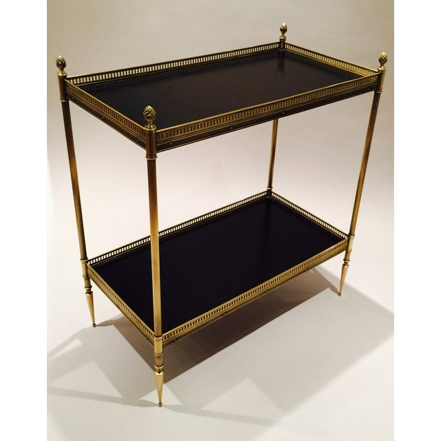 Brass and Leather Occasional Table - Image 5 of 5