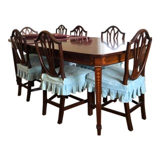 The Company of Mastercraftsmen Hepplewhite-Style Dining Table and 8 Chairs - Set of 9 For Sale