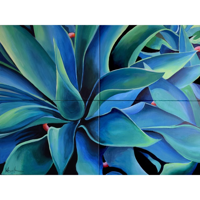 Silver Blue Agave Painting - Image 1 of 8