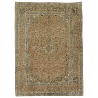 "Vintage Persian Khorassan Traditional Style Rug - 8'3"" X 11'4"" For Sale"