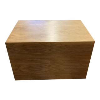 Custom Oak Wood Veneer Coffee/ Side Table For Sale