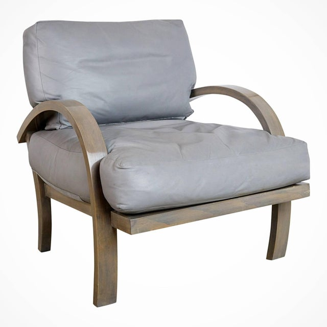 Contemporary 1984 Leather Lounge Chairs for Steve Chase Designed Home - a Pair For Sale - Image 3 of 10