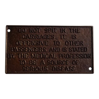 Early 20th Century Antique English Transportation Sign For Sale