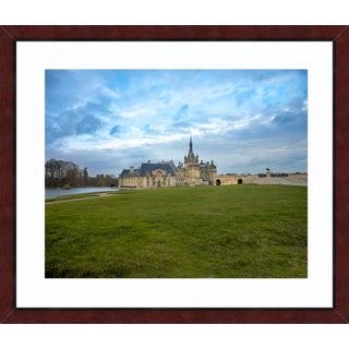 """""""Château De Chantilly"""" Contemporary Photograph by John Manno, Framed in Mahogany For Sale"""