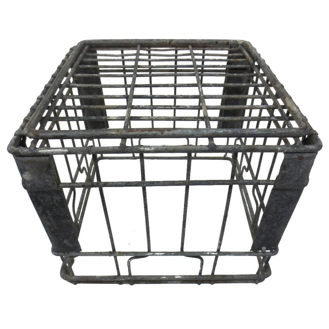 Industrial Square Metal Crate - Image 5 of 5