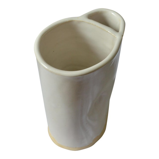 White Organic Modern Vase Chairish