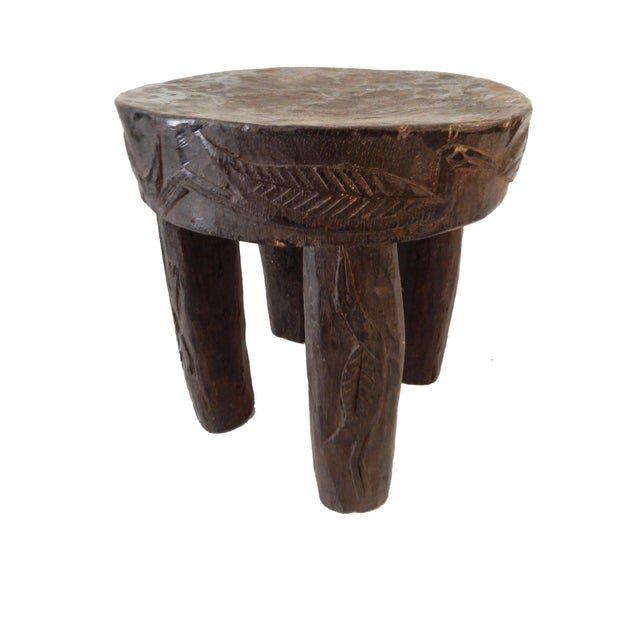 African Carved Milk Stool - Image 3 of 7