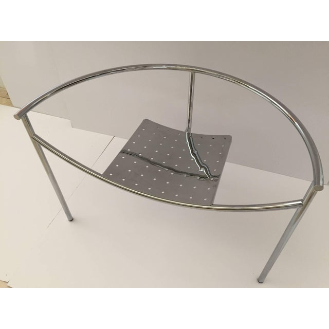 Industrial Vintage Mid Century Philippe Starck Doctor Sonderbar Chrome Chair For Sale - Image 3 of 10