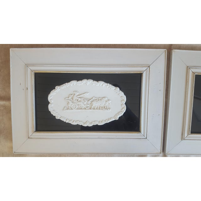 Vintage Neoclassical Framed Intaglios - a Pair For Sale - Image 5 of 13