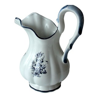 Delft Ceramic Wash Pitcher For Sale