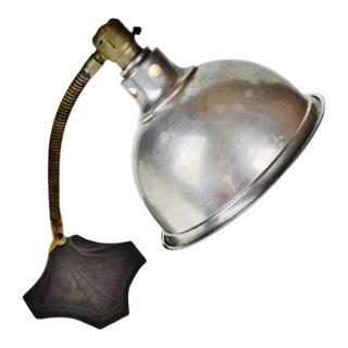 Vintage Varick Electric Industrial Gooseneck Desk Lamp Infrared Heat Lamp For Sale