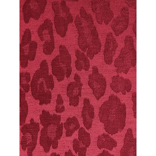 Sample, Scalamandre Chita, Ruby Fabric For Sale