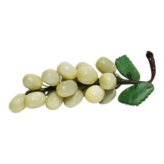 Stone Cluster of Grapes in Jade Green, Brown and Light Green Mid Century For Sale