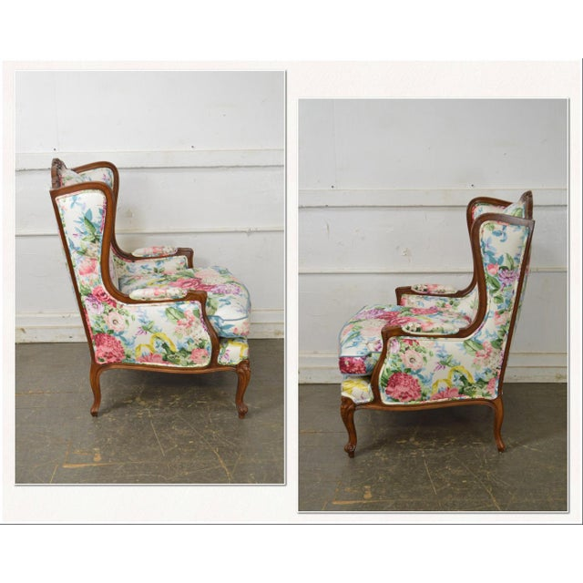 *STORE ITEM #: 17612-fwmr Meyer Gunther Martini Custom Floral Upholstered French Louis XV Style Bergere Wing Chair AGE /...