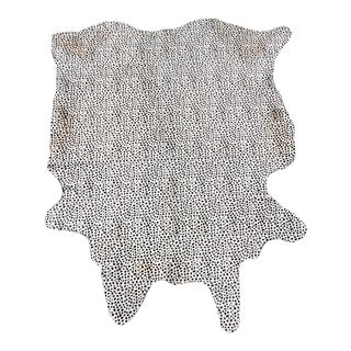 "Snow Leopard Print Brazilian Cowhide - 5'1"" x 6'8"" For Sale"