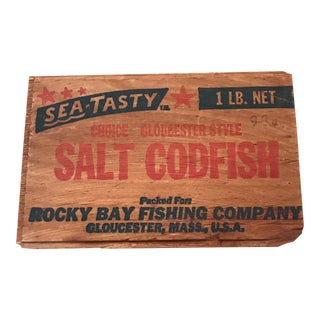 Gloucester Mass Codfish Wooden Sign For Sale