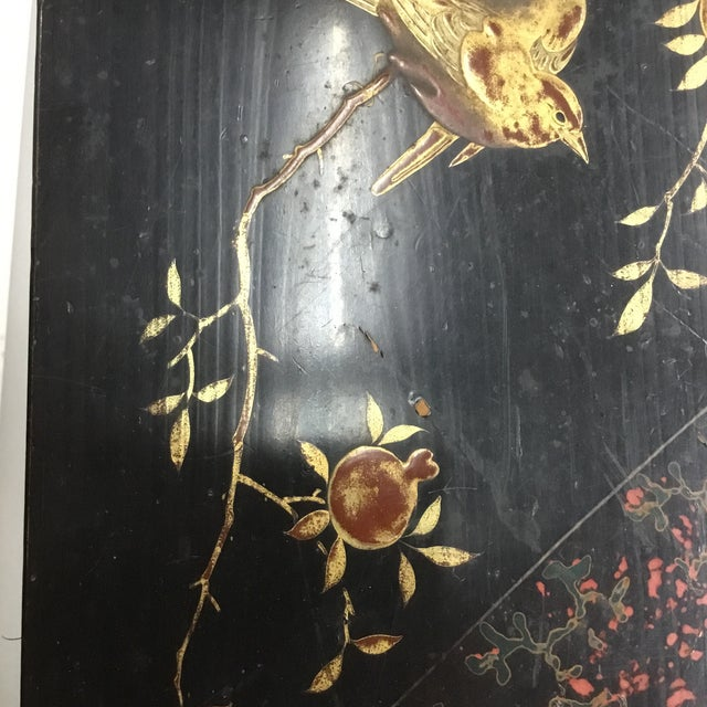 19th Century Antique Japanese Lacquer Box / Lap Desk For Sale - Image 12 of 13