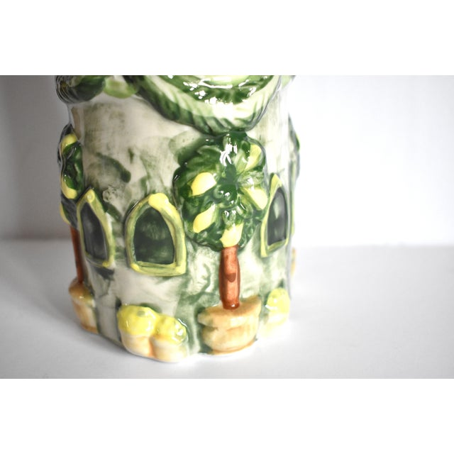 Vintage Italian Trompe l'Oeil Castle Pasta Canister For Sale In San Francisco - Image 6 of 9