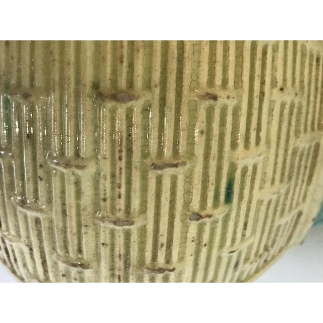Majolica Strawberry Basket Pitcher For Sale - Image 10 of 11